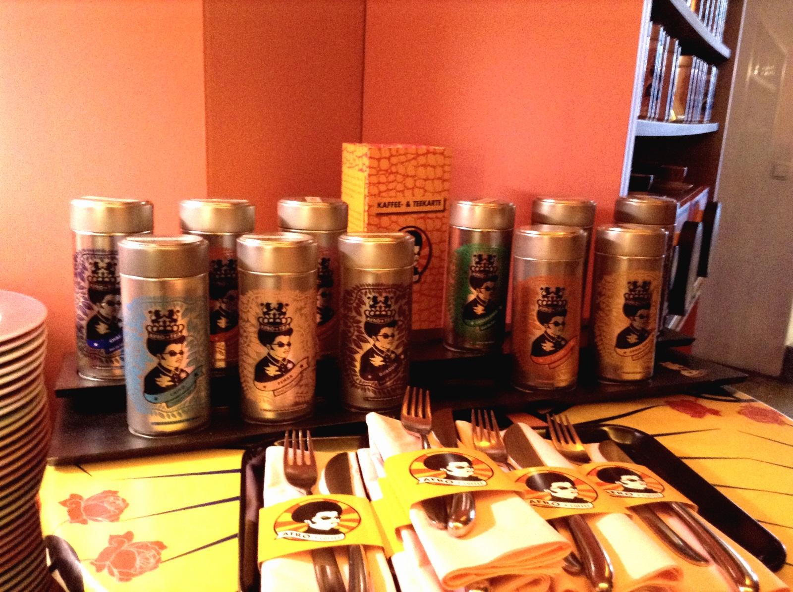 kleine Auswahl von Afrocoffee im Aufrocafe