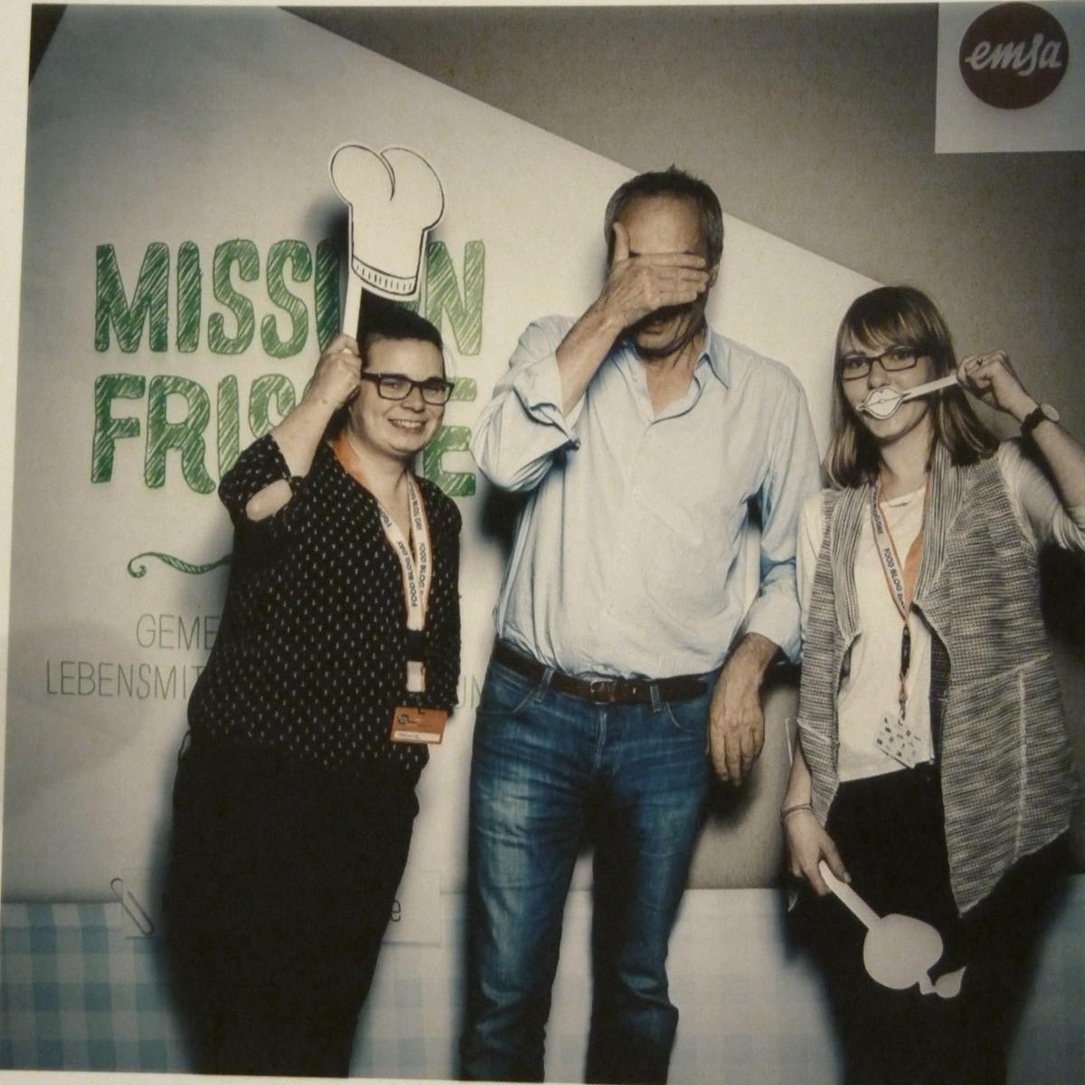 Melli, Christian Rach und Sara auf den FoodBlogDays