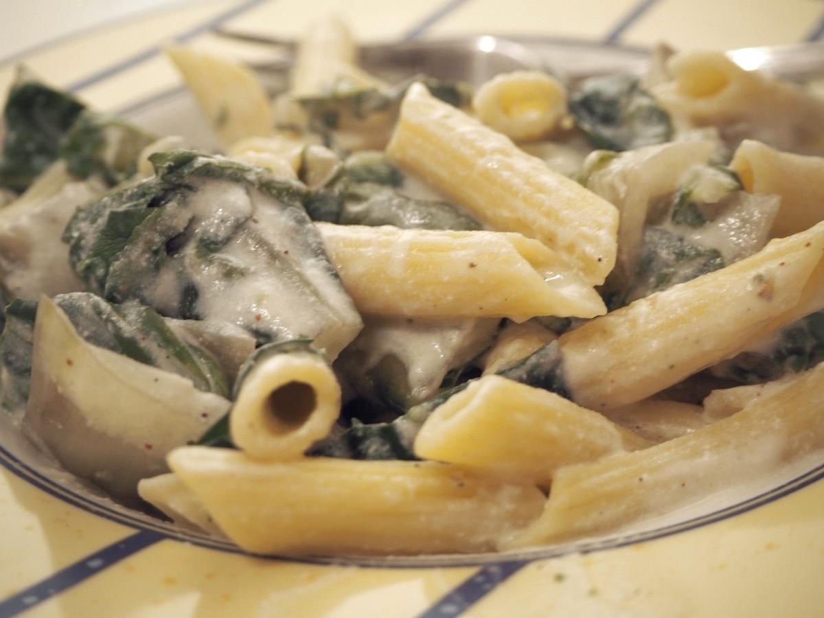 Mangold-Ricotta-Pasta