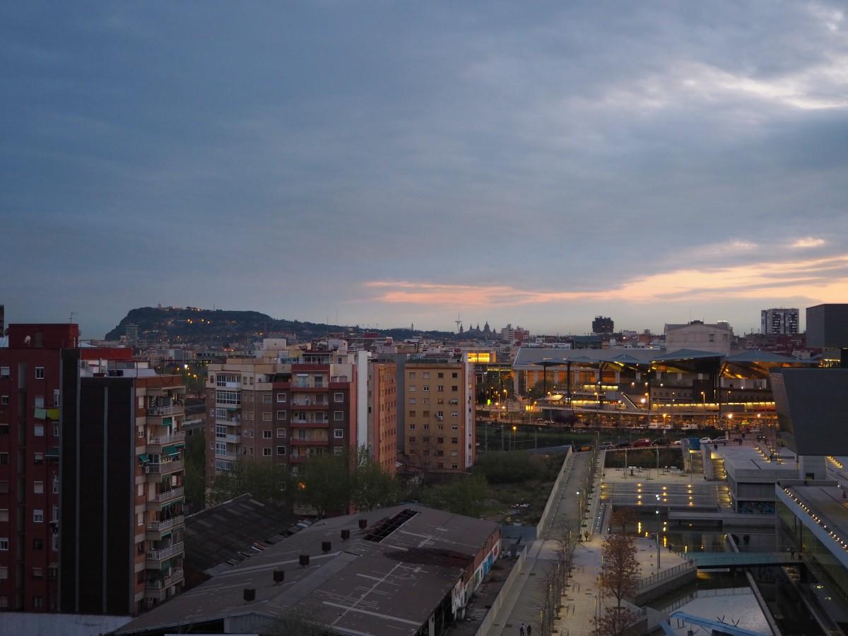 Die wunderschöne Aussicht aus dem Hotel Silken Diagonal in Barcelona.