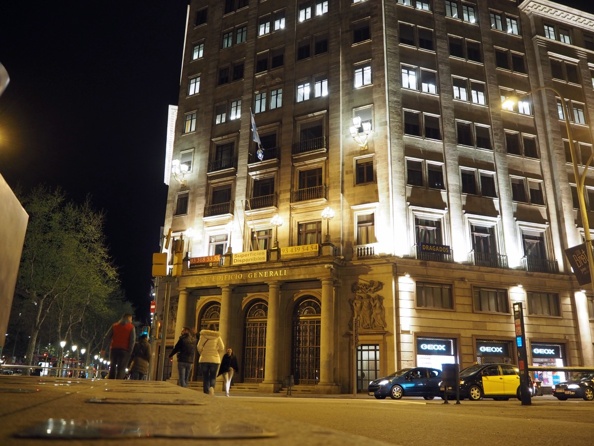 Barcelona bei Nacht.