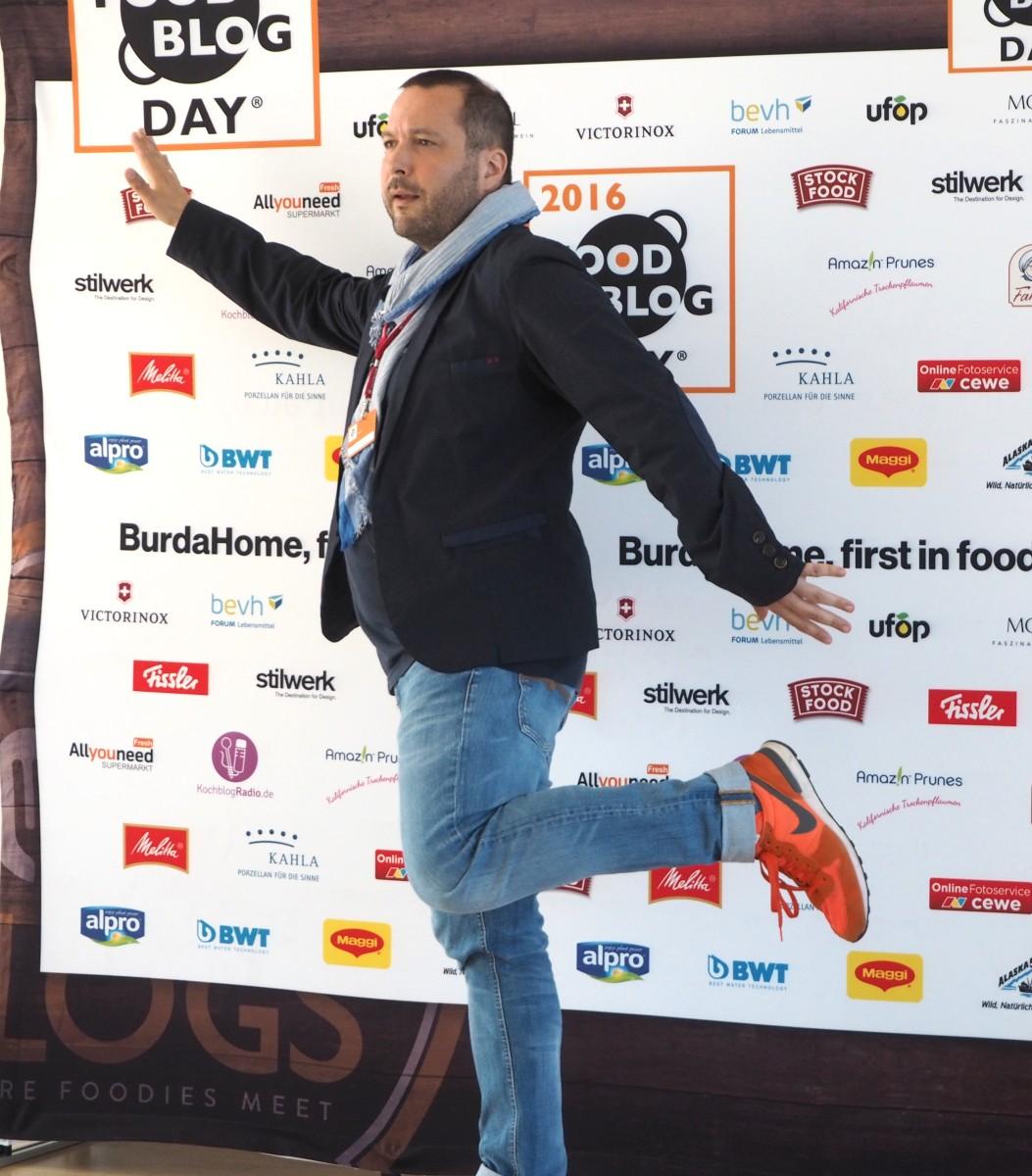 Max Thius auf den Food Blog Days 2016 in Berlin.