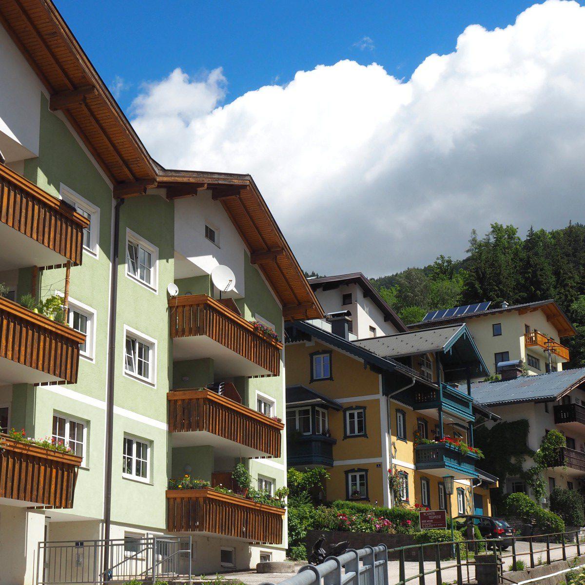 Häuser in Mondsee.