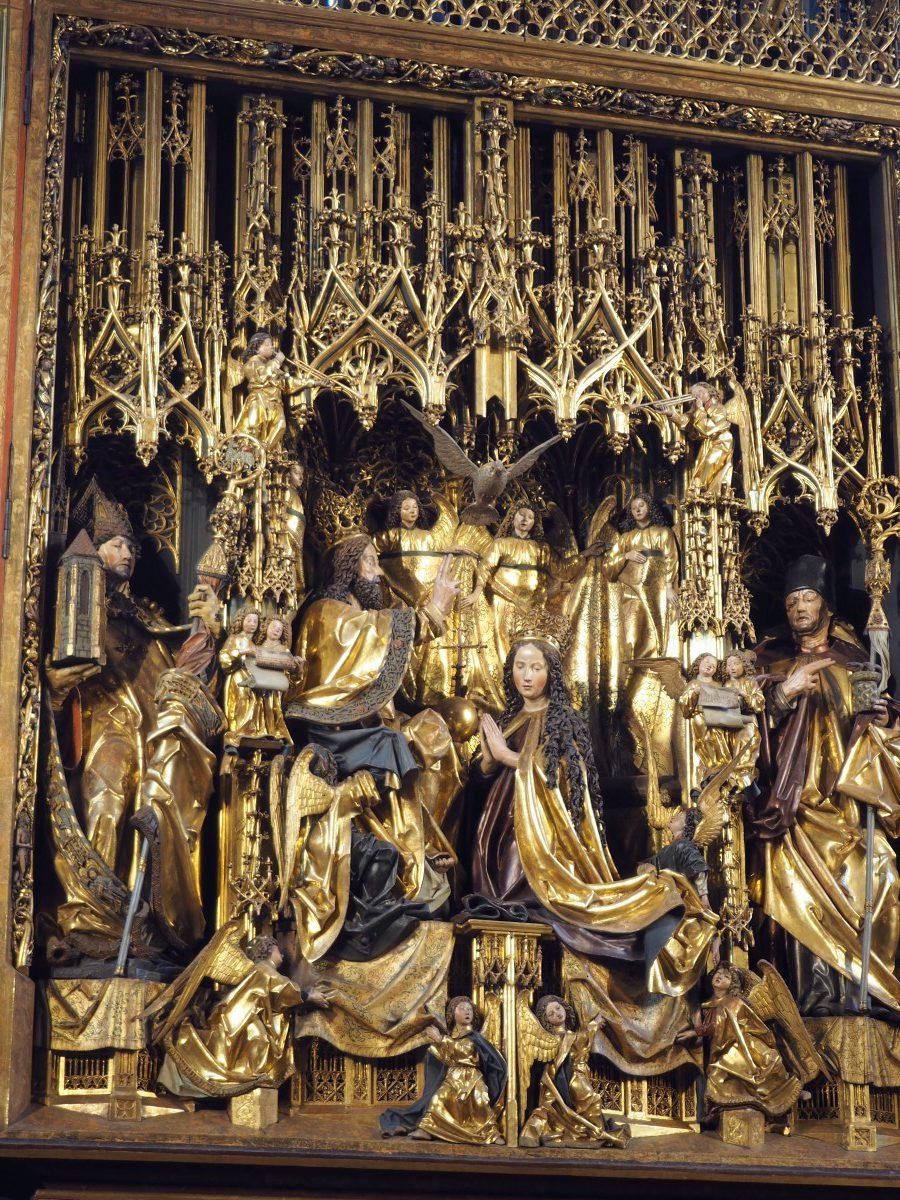 Der Pacher-Altar in der Pfarrkirche St. Wolfgang.