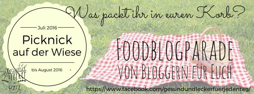 Header zur Foodblogparade Picknick auf der Wiese.