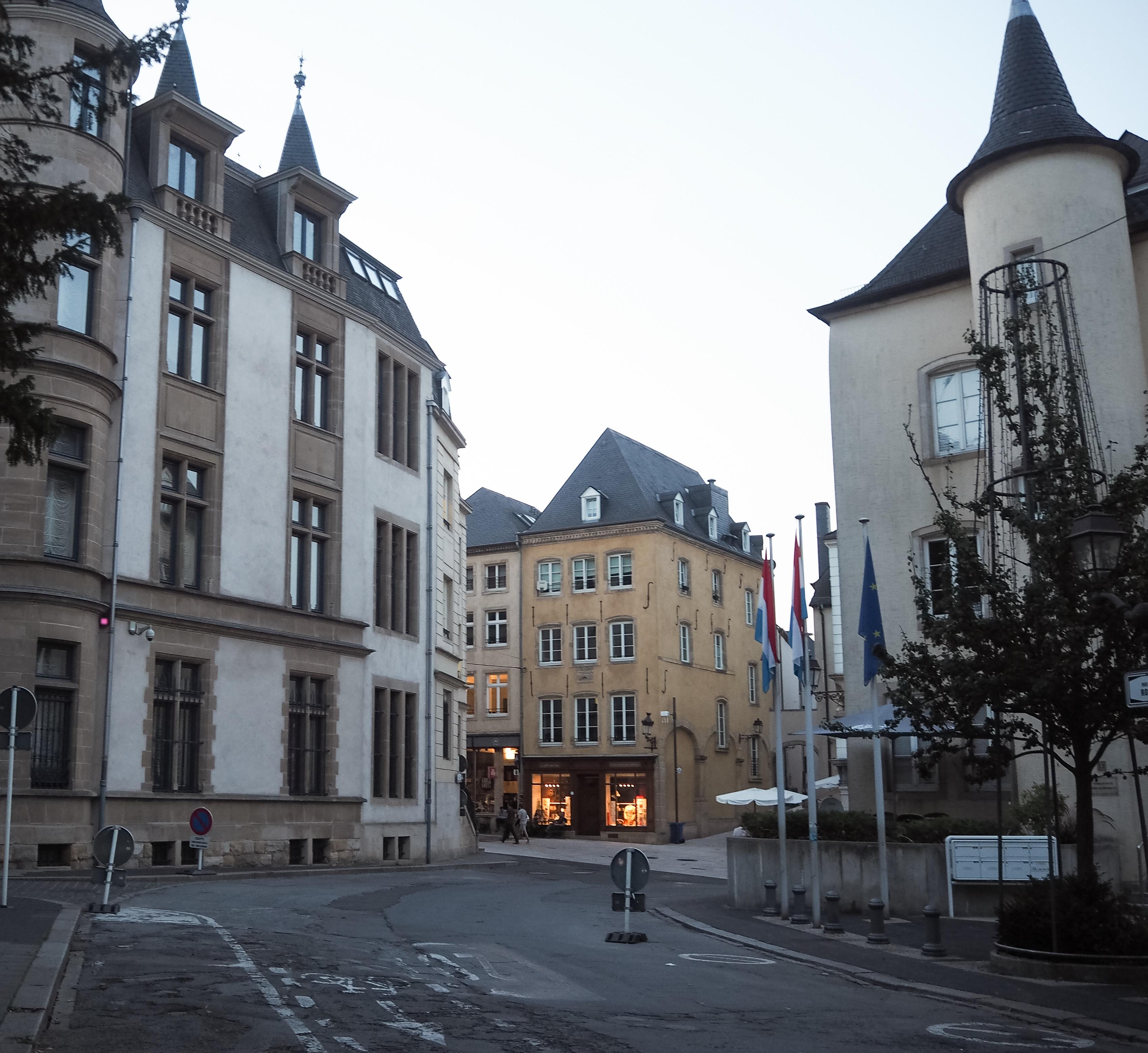 Blick auf die Innenstadt von Luxemburg.