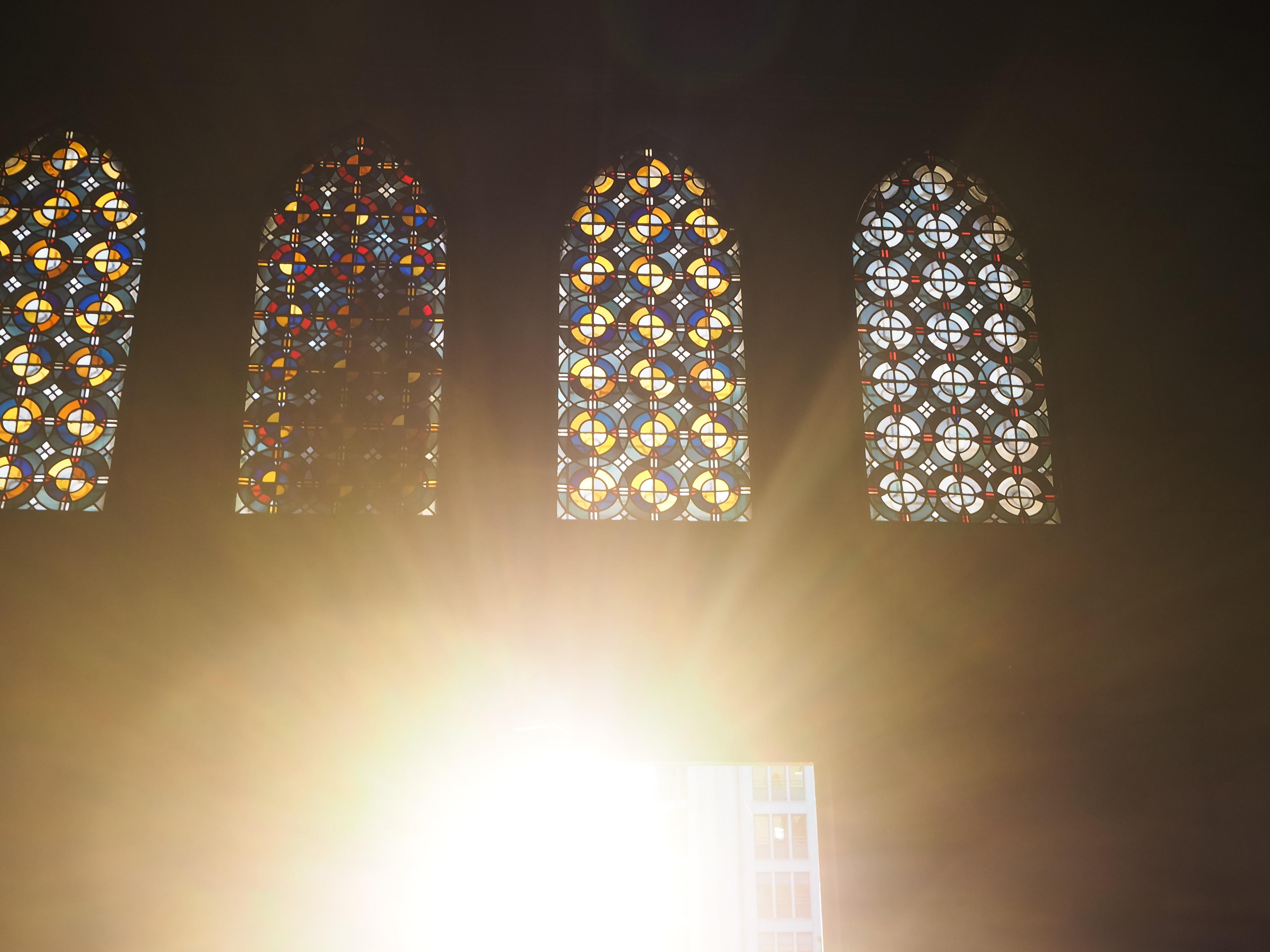 Blick aus der Kathedrale Notre-Dame in Luxemburg.
