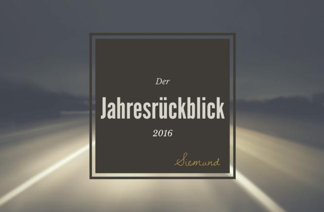 Schau mit mir, was im Jahr 2016 so alles geschehen ist. Den Jahresrückblick gibt es jetzt auf msiemund.de