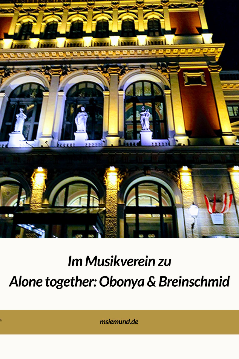 Im Musikverein Wien mit dem Tonkünstler Orchester und Obonya und Breinschmid.